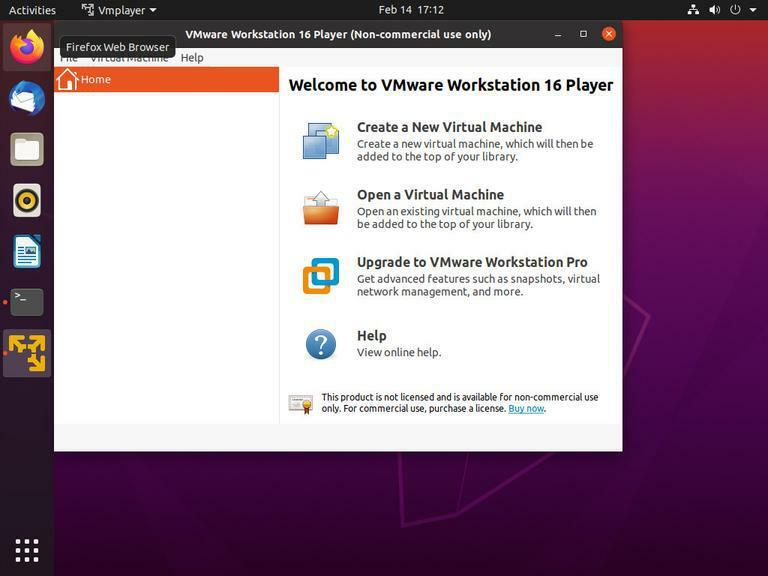 ubuntu vmware workstation player