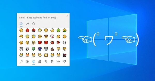 在windows10使用emoji表情